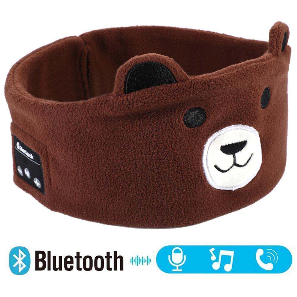 어린이 헤드폰 무선 블루투스 5.0 이어폰은 아이가 어린이를위한 마이크와 만화 소프트 음악 헤드셋 마스크 잠자는