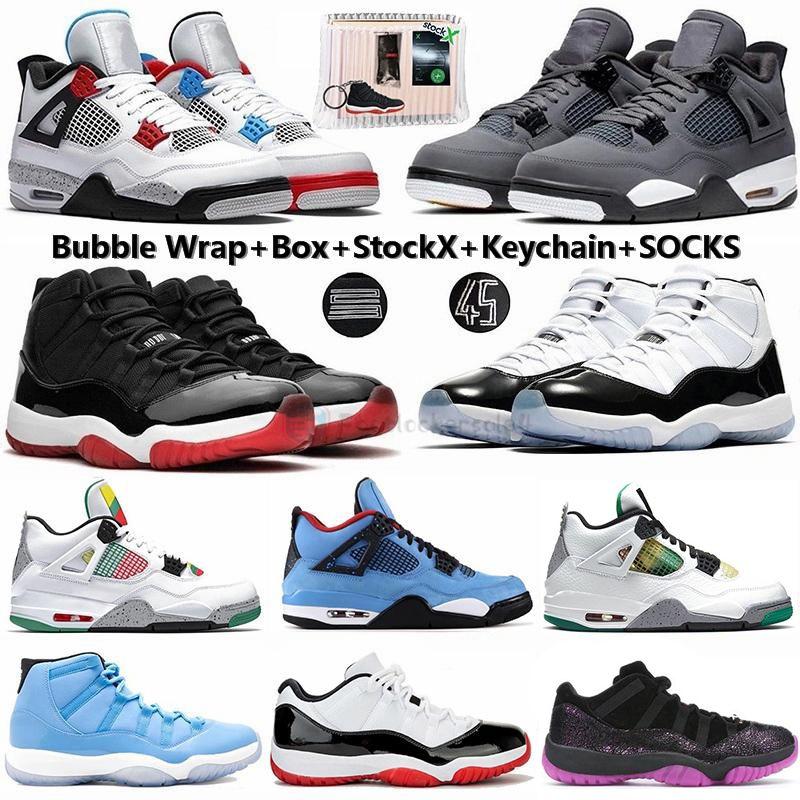 Nike Air Jordan Retro Blanc Bred Cactus Jack Cool Gray 4 4s Rasta What The Chaussures de basket-ball 11 11s Concord 45 Gamma Bleu Pantone Hommes Chaussures de sport