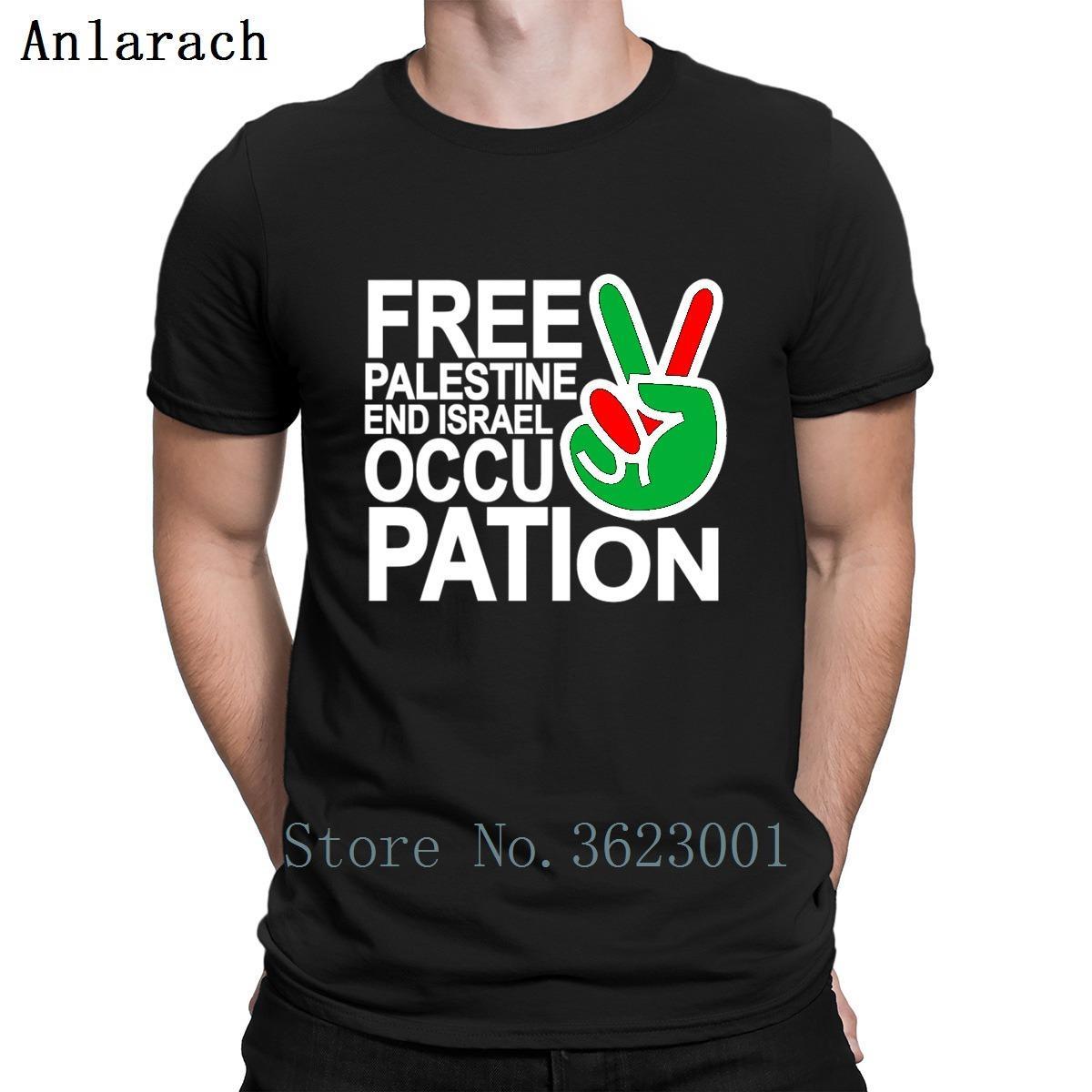 GRATUITA PALASTINA END ISRAELIA DOPPATION T SHIRT AUTENTICA ABBIGLIETTI DI FITNESS ESTATE 2019 T-shirt personalizzata Stampata da uomo in cotone strano