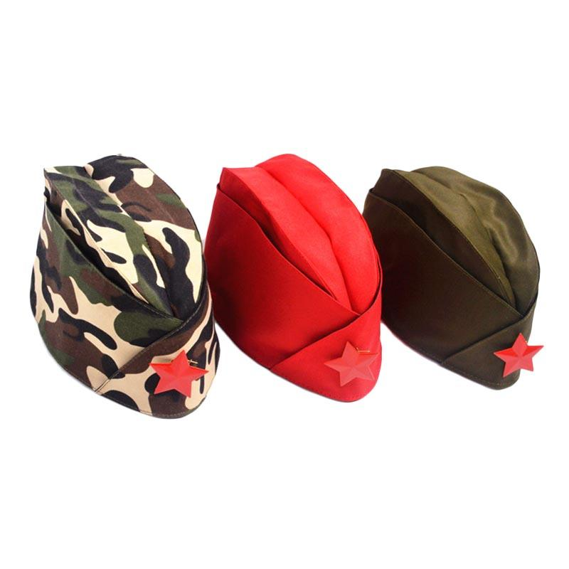 Women\'s Cap Green Camo Badge Army Cap Women Sailor Military Stage Performance Dance Hats Chinese Boat Cap BH