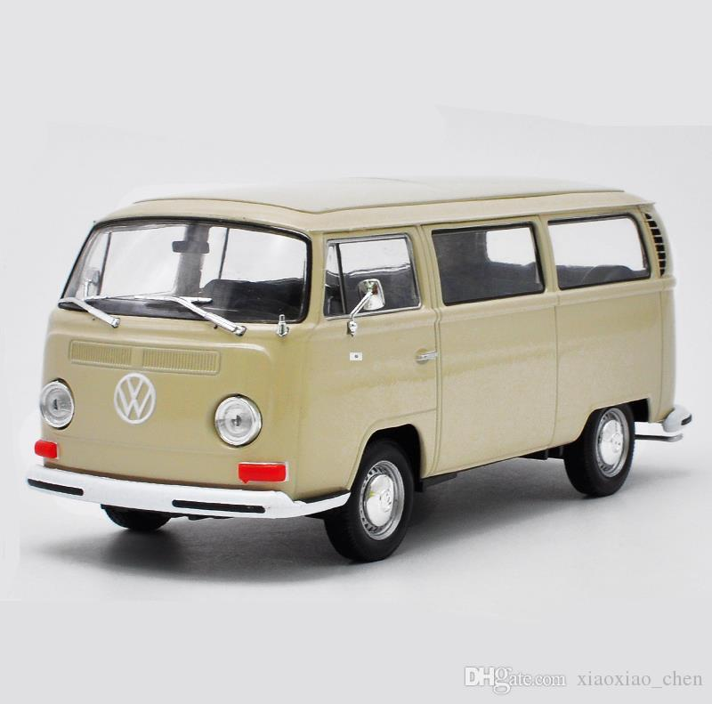 1:24 scale alloy bus model,VOLKSWAGEN 1972 T2,diecast metal model,open doors toy vehicle,collection bus model free shipping