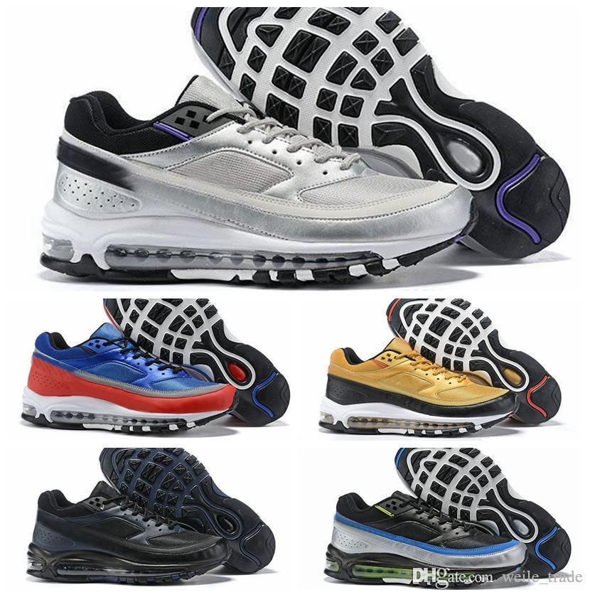 2019 Mens BW x Skepta Metallic Silver Violet Schuhe für Herren Outdoor Sports Turnschuhe London Bronze des Chaussures Schuhe Schuhe Laufen