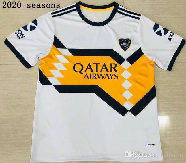 Venta al por mayor 2021 Boca Juniors blanco fútbol Jersey 20 21 CARLITOS PEREZ DE ROSSI camiseta de fútbol uniformes deportivos