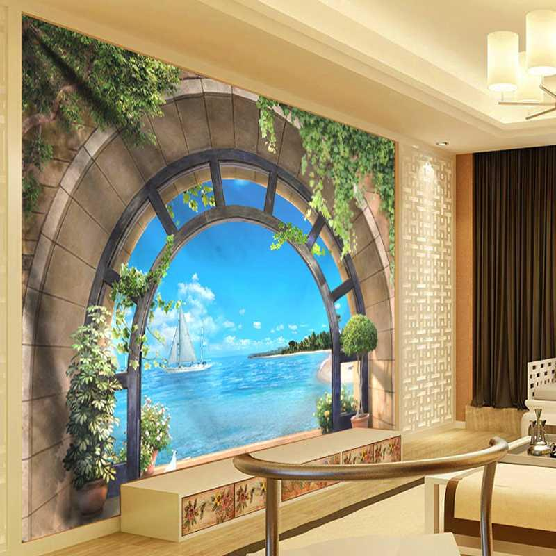 3D الجدار شنقا بوهيم ماندالا نسيج الزهور الكرمة شاطئ الهبي نسيج البحر تعليق على الحائط غرفة المعيشة ديكور المسكن الفن نسيج