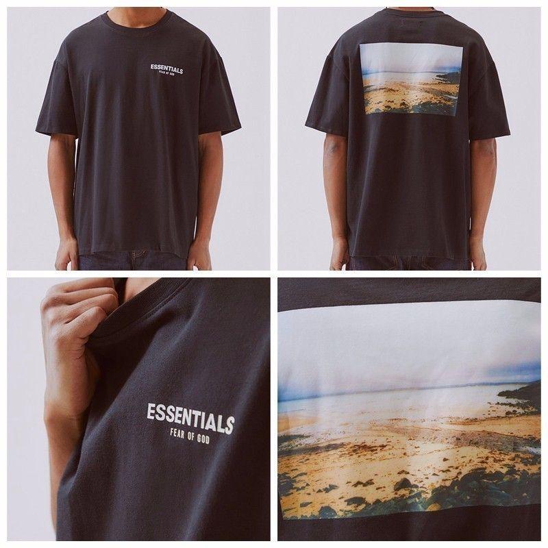 NEW INS 19FW Fear of God FOG Essentials Tee BOXY PHOTO Tshirt Loose Casual Shirt