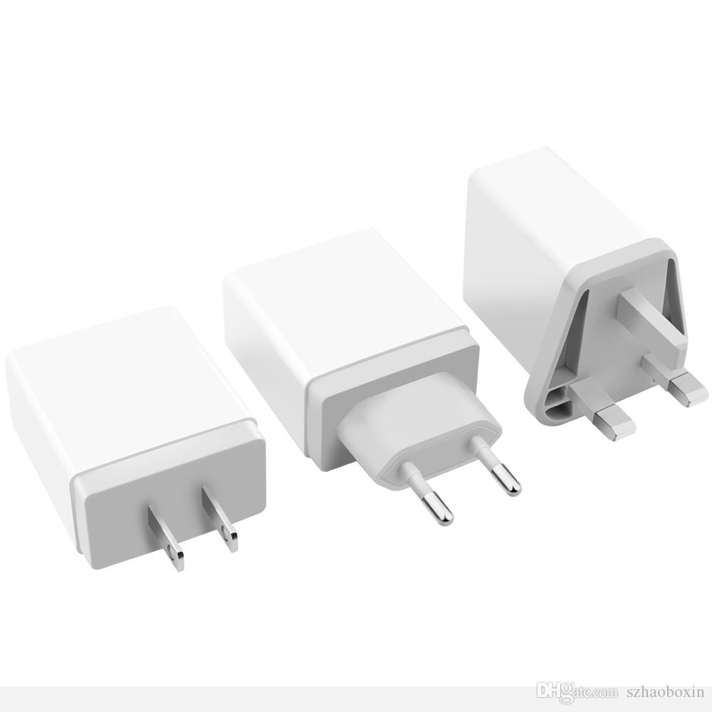 4 Multi Port Fast Quick Charge 3.0 USB Hub Wall Charger Adapter EU / US Plug