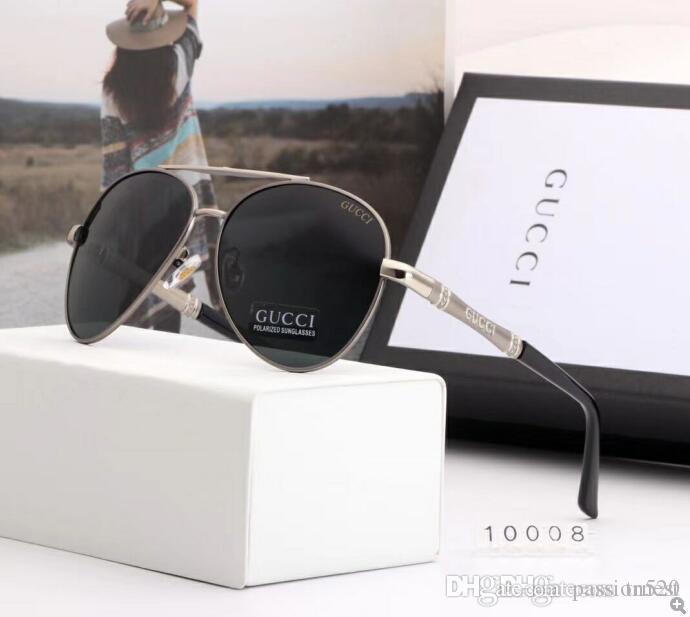 2020 Luxury Fashion Designers Grand Métal Lunettes de soleil pour hommes, femmes verre Objectifs Protection UV Lunettes de soleil 12