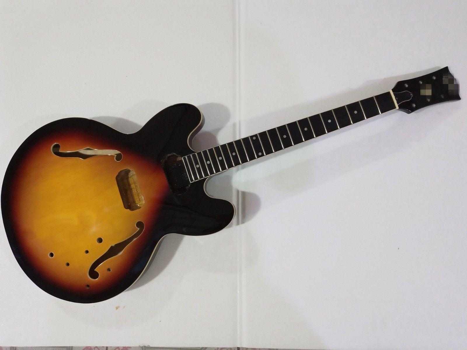 1 مجموعة الانتهاء من الغيتار الرقبة والجسم لمجموعة ES 335 نمط الغيتار عدة