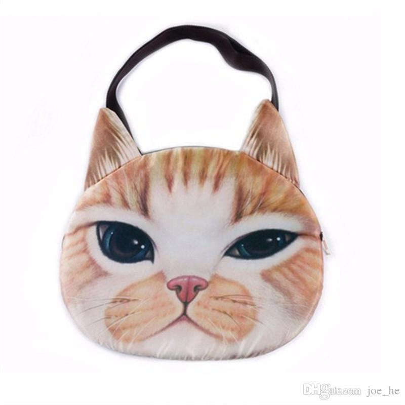 Designer-Moda 2019 Nuovo qualità femminile del sacchetto di tela del gatto Stampa sacchetto per le donne messaggero spalla selvaggio trapuntate Borse dei cartoni animati