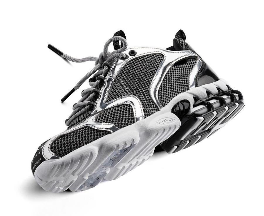 NOUVEAU 2020 de presse stu'ssy nouveau x Zoom Spiridon Caged FOSSILES PURE PLATINUM CQ5486-200 CU1854-001 Femmes Hommes Chaussures de course Sport Sneaker