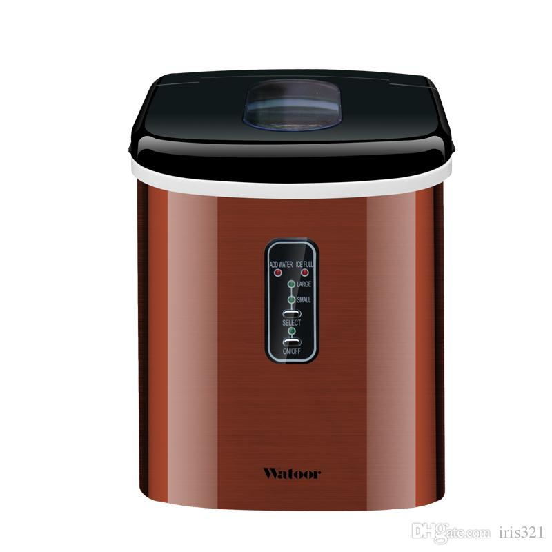 Mini Automatic Electric Ice Maker Portable Bullet Round Block Ice Cube Making Machine Small Bar Coffee Shop 15kgs
