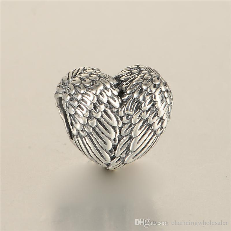 REAL 925 Sterling Silver feather charms beads Fit for Pandora Charms Bracelet for Women Fashion Jewelry