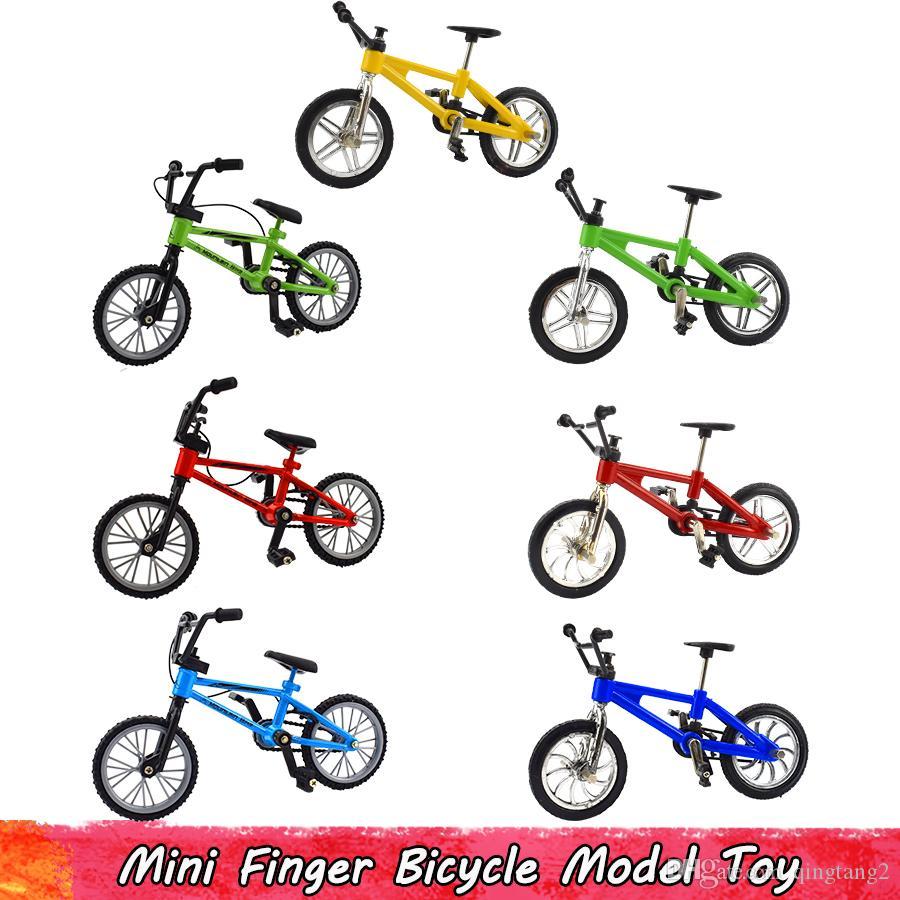 فنجر 1PCS سبائك ريترو البسيطة لعبة دراجات للأطفال محاكاة جبل البلاستيك دراجة نموذج للأطفال الإبداعية هدايا الديكور المنزلي