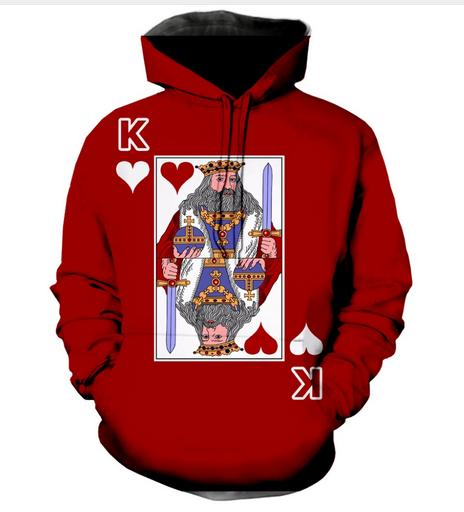 Hot Fashion Men/Women Harajuku Style The King of Hearts Rocket Hooded Hoodies 3D Print Unisex Tops Wholesale and Retail RW0167