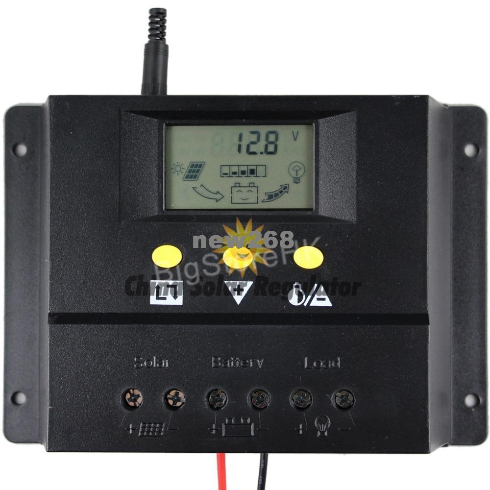 Freeshipping 80A regolatore di carica solare 12 V 24 V 1000 W 2000 W pannello solare display a cristalli liquidi PWM ricarica per off-grid controller fotovoltaico solare