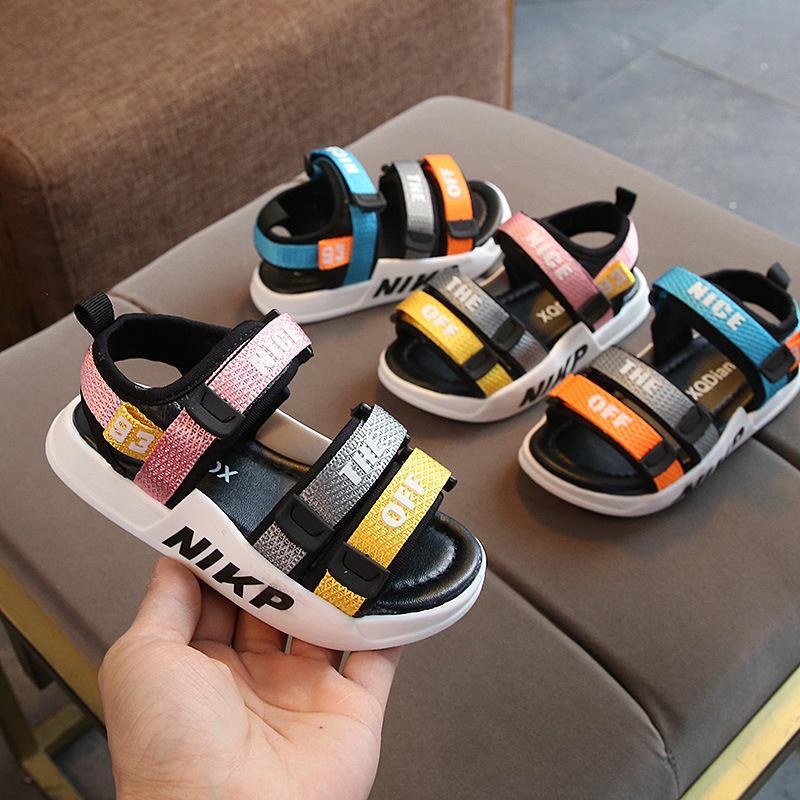 Meninos Sandals suave inferior infantil Praia Sapatos bebê confortável Sandals Meninas da praia Sapatos CX200603