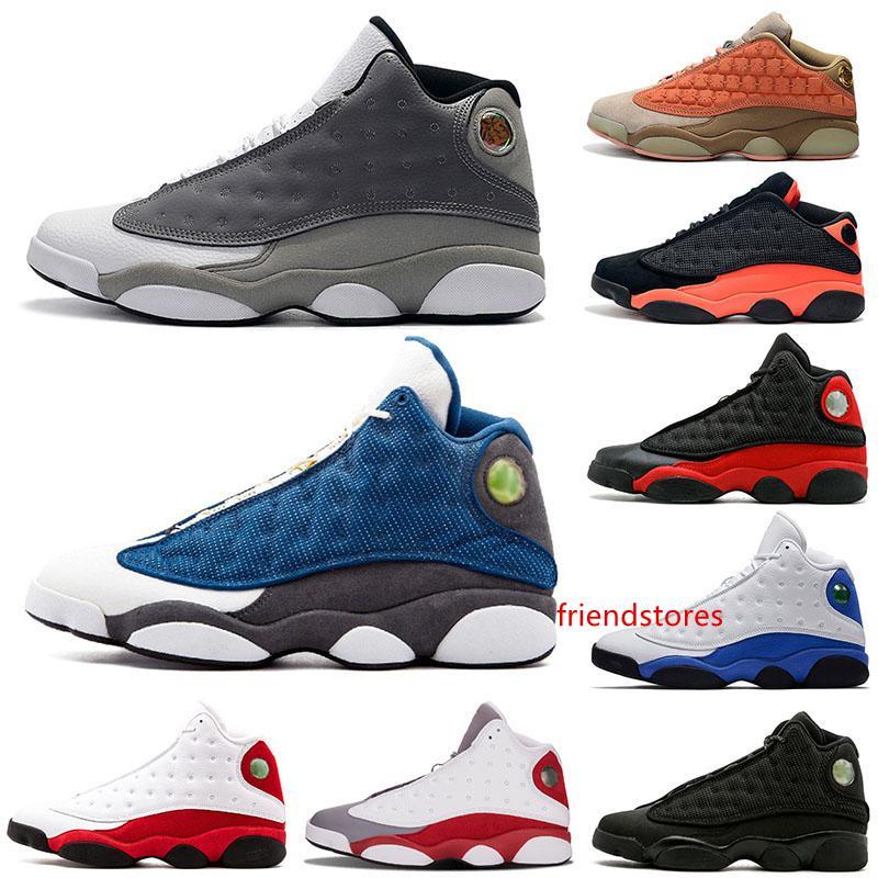 13s marca Atmosfera Grey Terracotta Blush Chicago da basket scarpe XIII Clot Melo DMP nero a infrarossi Cat Flint Class of 2002 Mens Trainers