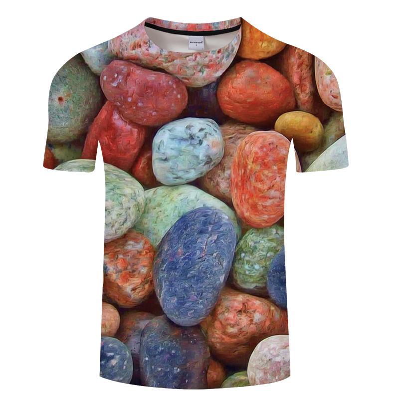 Каваи футболка мужчины футболка Harajuku 3D футболка хип-хоп Tee 6XL топ камень печатных одежда с коротким рукавом Camiseta челнок ZOOTOPBEAR C18122901