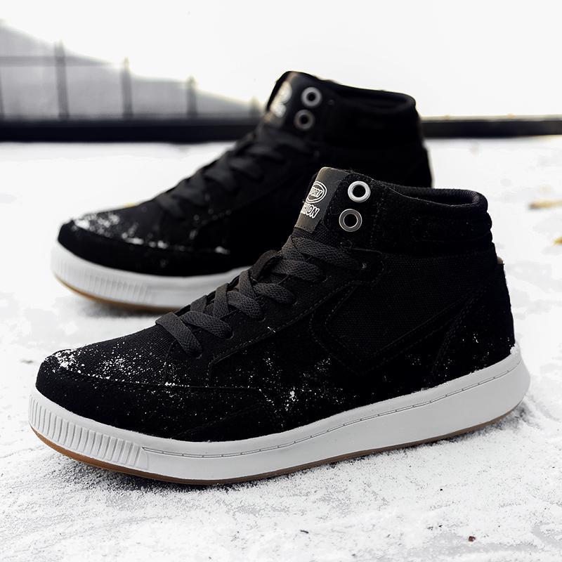 2018 Super Warm Men Winter Leather Boots Cow Suede Canvas Men's Fur Boots Warm Snow Shoes Men's Ankle Snow Boot Plus Size 38-49