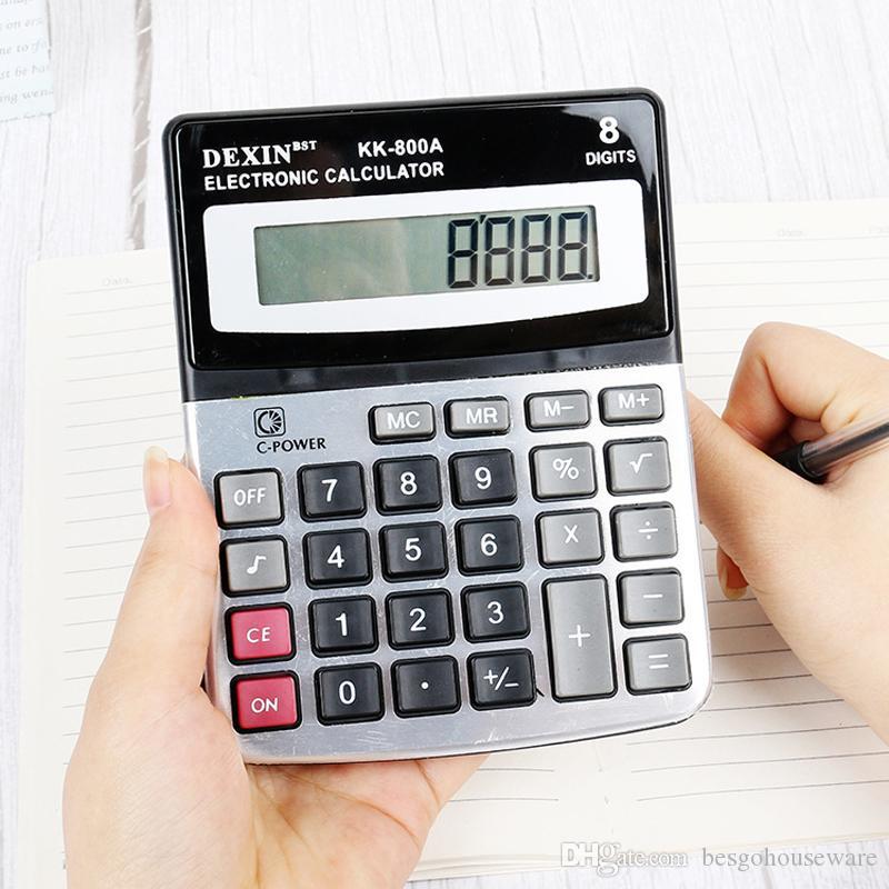 Ufficio Finanza Calcolatrice con segreteria commerciale 8 cifre Calcolatrice Elettronica Home School Cancelleria grande schermo Calculator BH2372 TQQ