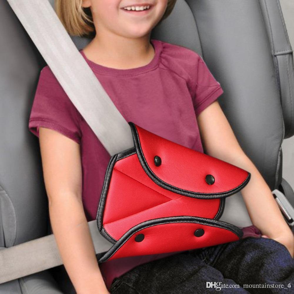Araba Koltuğu Emniyet Kemeri Kapak Sağlam Ayarlanabilir Üçgen Emniyet Emniyet Kemeri Pad Klipler Bebek Çocuk Koruma Araba-Styling Araba Mal (Perakende)
