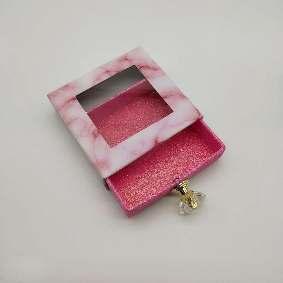 3D Mink Wimpern Paketboxen falsche Wimpern Platz Verpackung Leere Wimper-Kasten-Kasten Lashes Box Verpackung 6styles RRA3057
