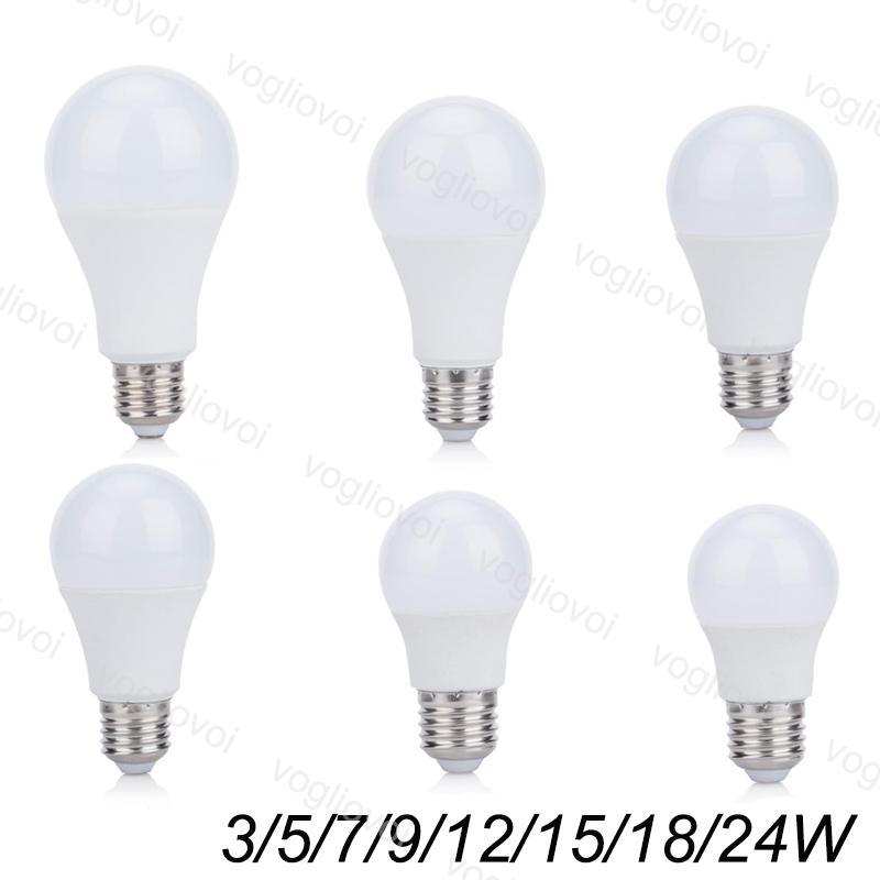 LED Bulbs 110V 220V 3W 5W 7W 9W Aluminium Plastic SMD2835 PC Cover cool/warm white For Table Light Pendant Floor Lights EUB