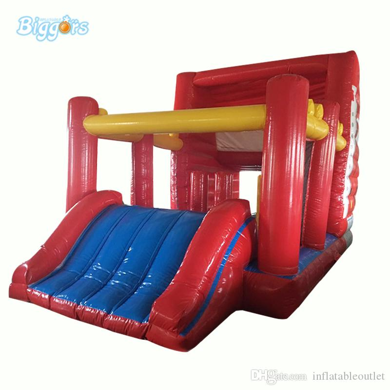 Em estoque PVC Classe Bouncy Castelo de Bouncy, Casa de Bounce De Forma De Carro com Slide and Obstacle Course Game.