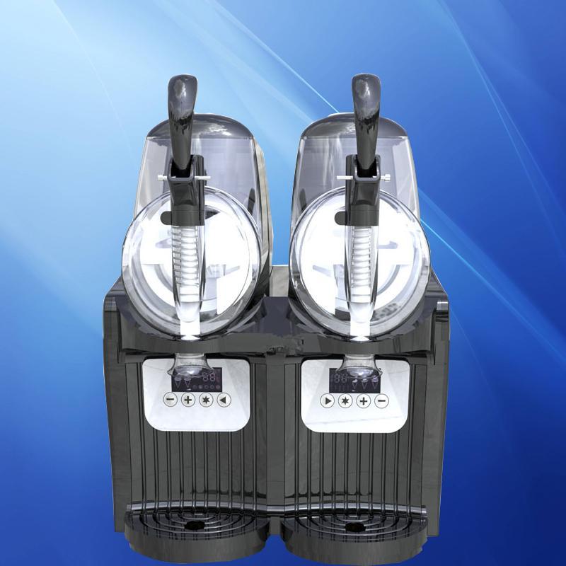 Commercial Snow Slush 110V / 220V Snow Melting Machine Large Capacity Juicer 2L * 2 Cylinder Smoothie Snow Melting Machine