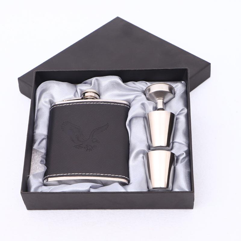 7oz Edelstahl Flachmann Set Jack Flagon mit Trichter Cups Mini Whisky Flagon Geschenk Outdoor tragbaren Wein Topf GGA2591