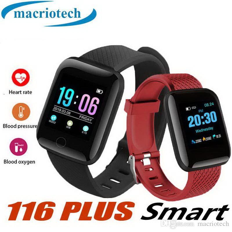 116 plus smart watch rastreador de fitness pulseiras heart rate passo contador banda pulseira de alta qualidade relógio inteligente para iphone android