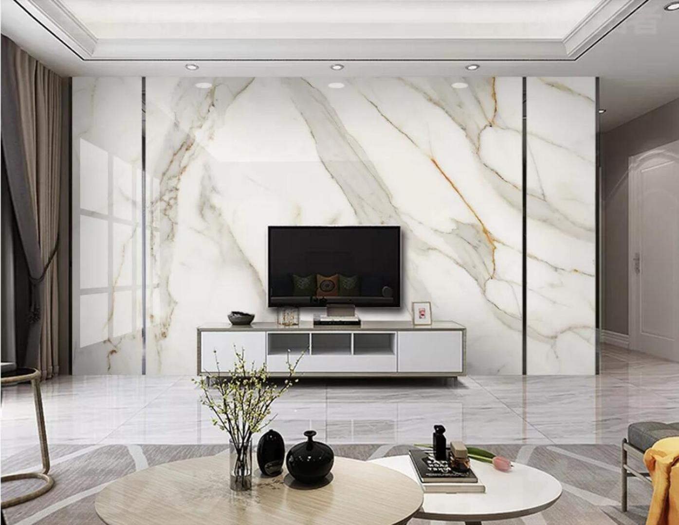 White Marble Wallpaper 3d White Wall Mural For Tv Background Wall Decor Murals Photo Printed Papers Car Wallpaper Car Wallpapers From Margueriter 19 56 Dhgate Com