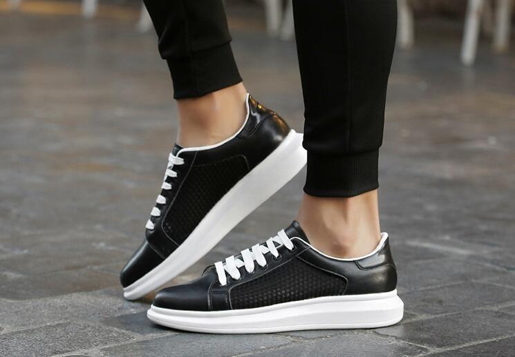 2019 uomini s scarpe casual di tendenza della moda estate e l'autunno, scarpe bianche traspiranti con scarpe fori casuali piane 05