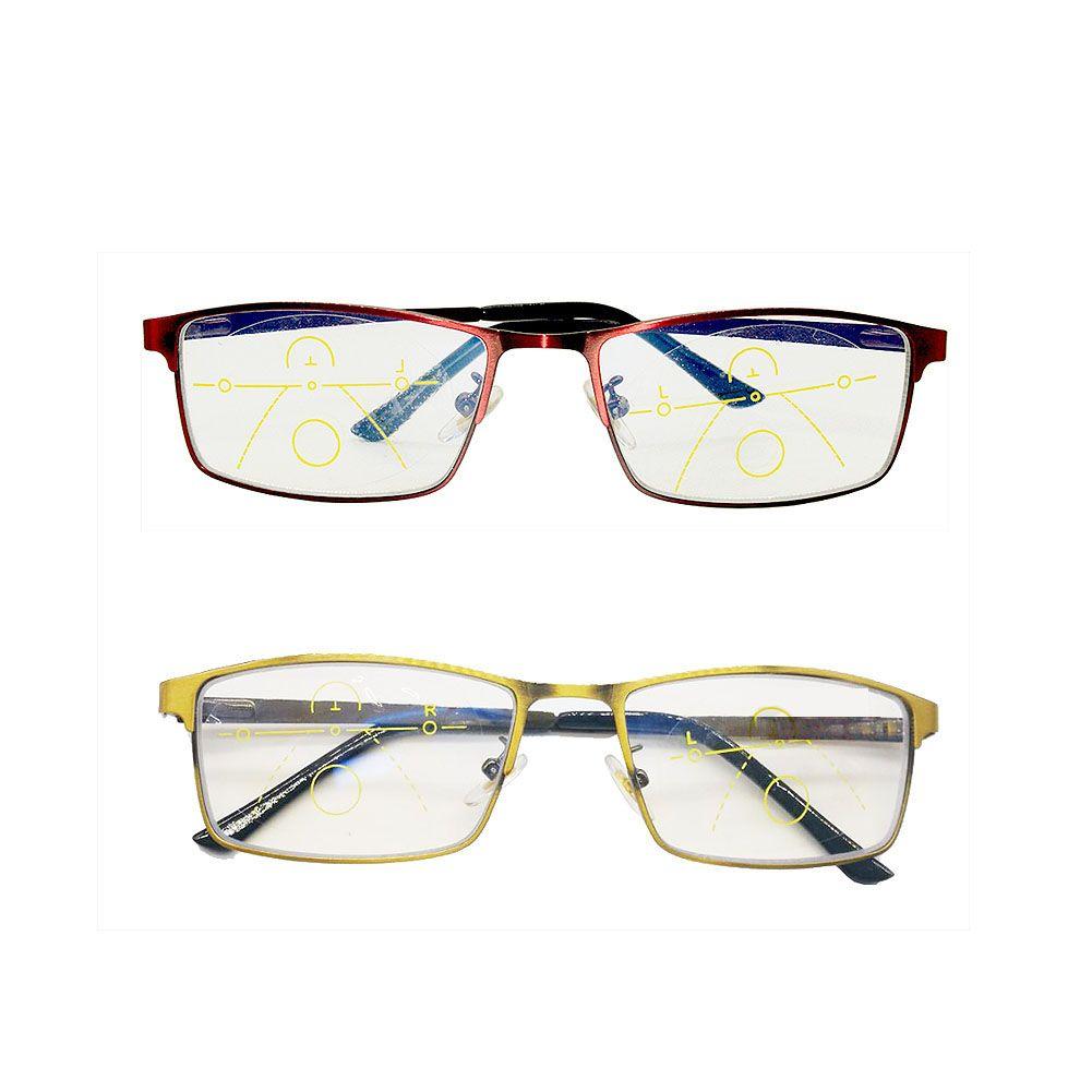 Intelligent zoom progressive reading glasses half-frame commercial presbyopia anti-blue-ray spectacles