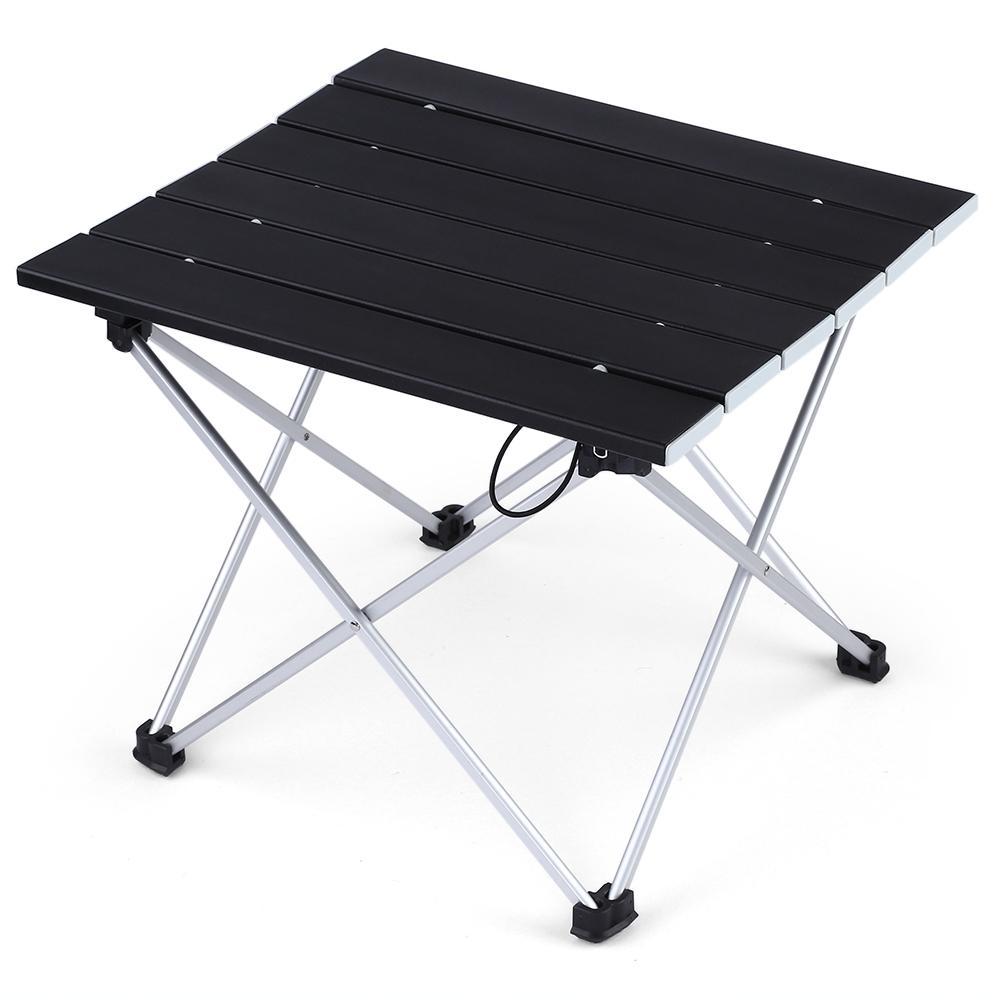 Portable Foldable mini Table Camping Outdoor Furniture Computer Bed Tables Picnic Aluminium Alloy Ultra Light Folding car Desk