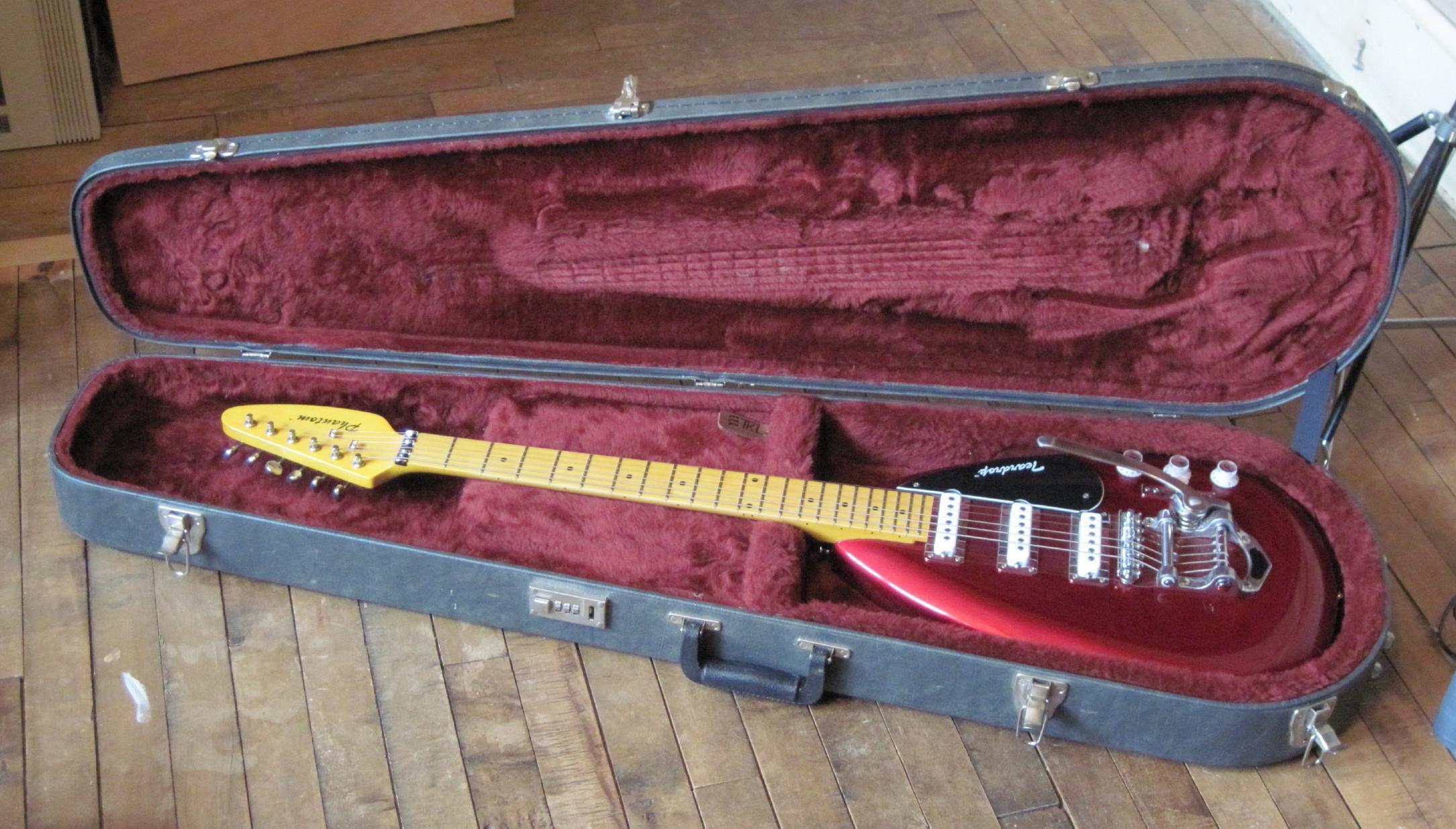 Personalizada Fantasma Hutchins Brian Jones Vox 1960 PGW Lágrima Firma rojo metálico semi hueco de la guitarra eléctrica de cuerpo Bigs Puente 3 Pastillas