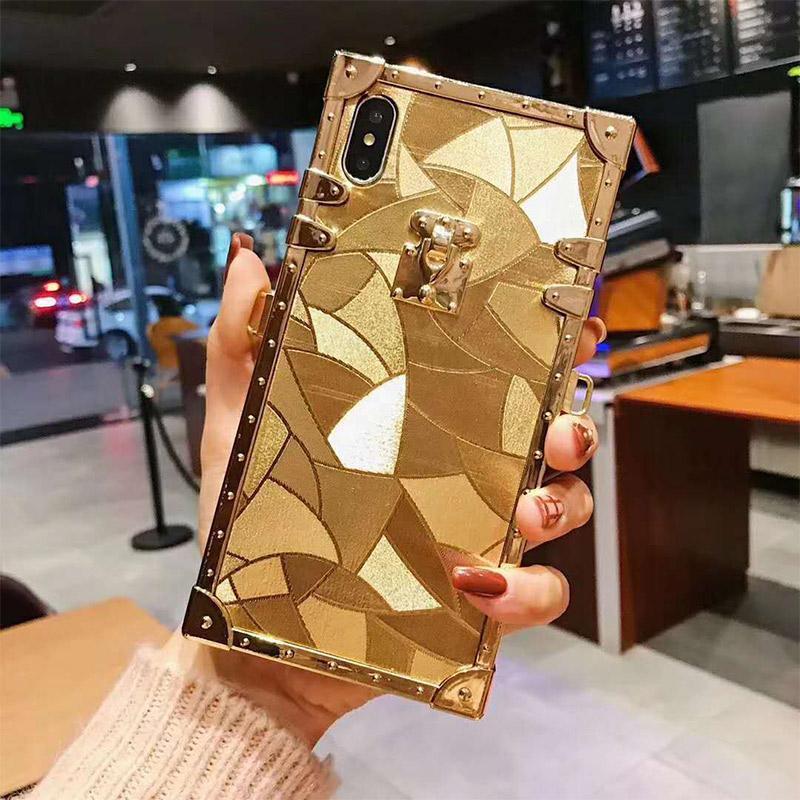 بلينغ بلينغ عودة حماية الغطاء عن اي فون 11 6 7 8Plus إكسس ماكس مصمم الهاتف القضية لسامسونج غالاكسي S10 Note10