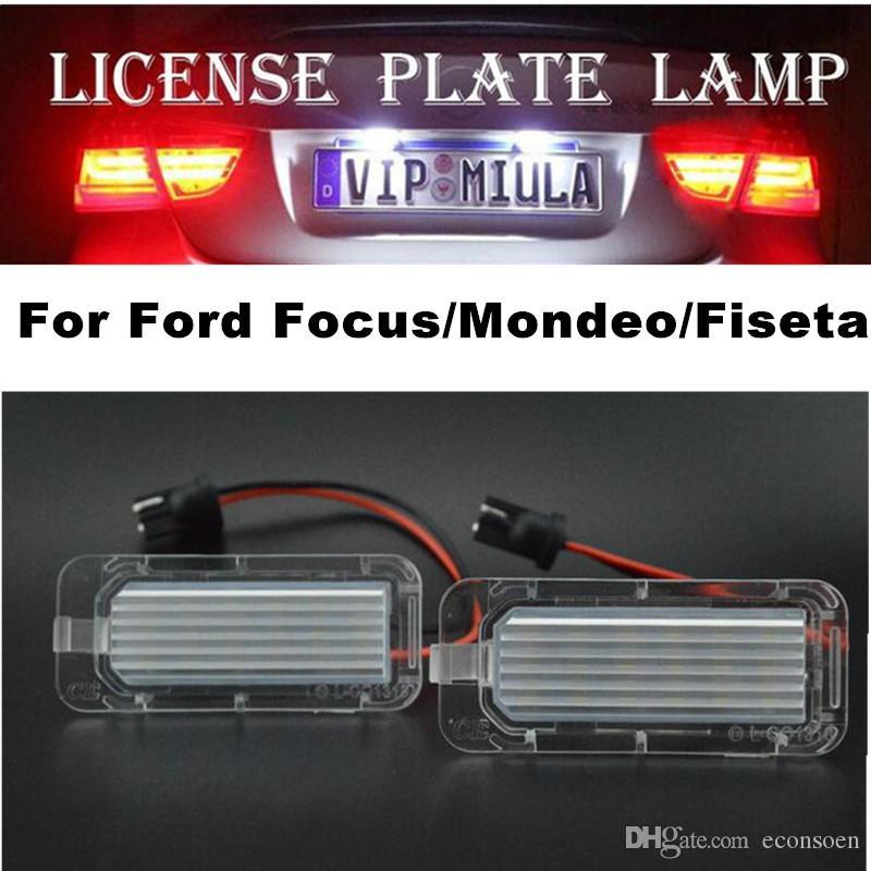 Coche de luz LED sPara Focus / Mondeo / Fiseta Placa de LED blanco de la lámpara del color para Ford Tamaño 58x25x11mm