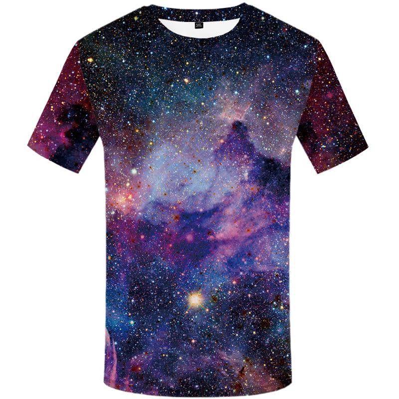 Brand Galaxy T-shirt Space T-shirts Funny 3D T-shirt Hip Hop Mens Clothing Galaxy Shirts Chinese Printed Tee