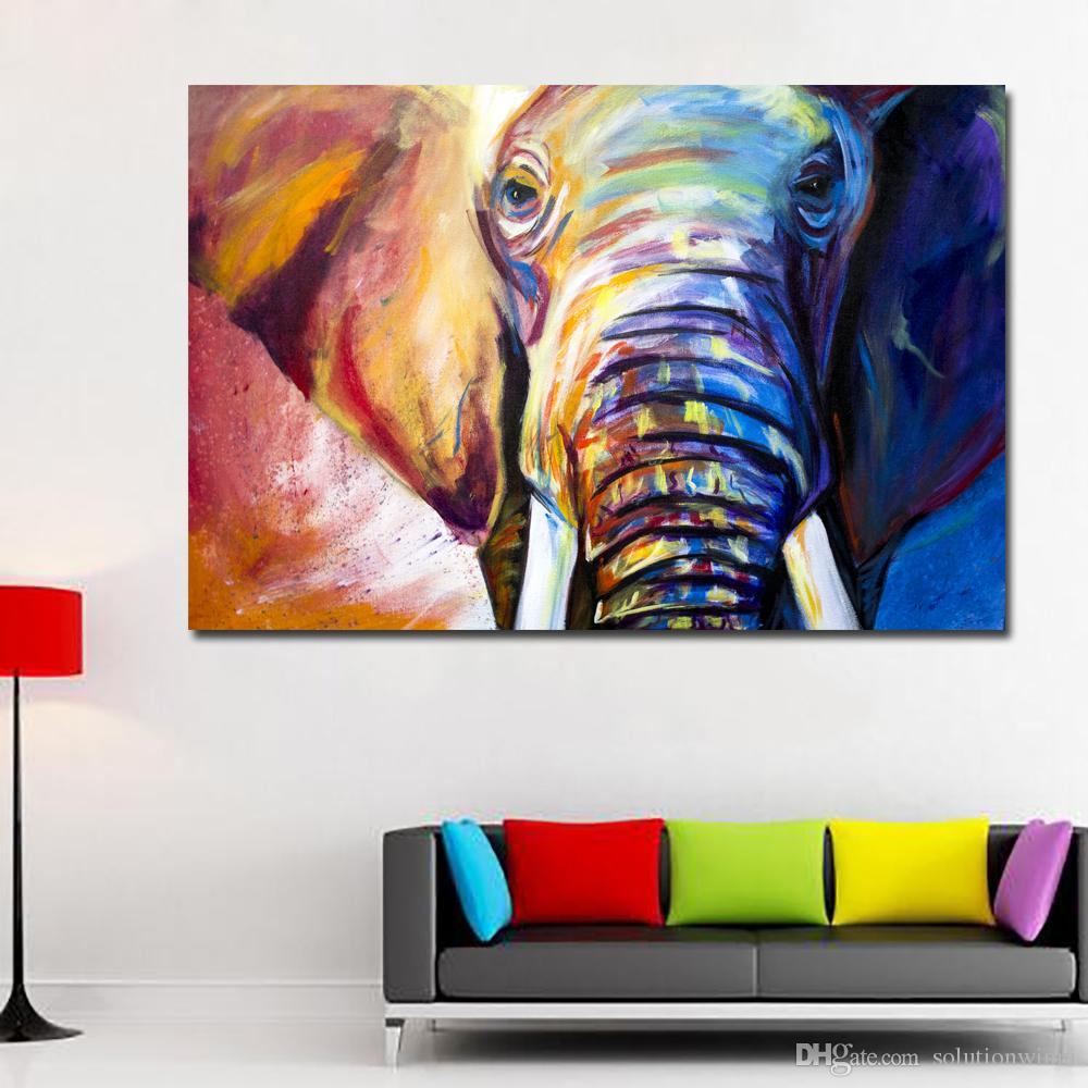 INDIAN ELEPHANT CANVAS PRINT PICTURE HOME DECOR WALL ART FREE UK DELIVERY