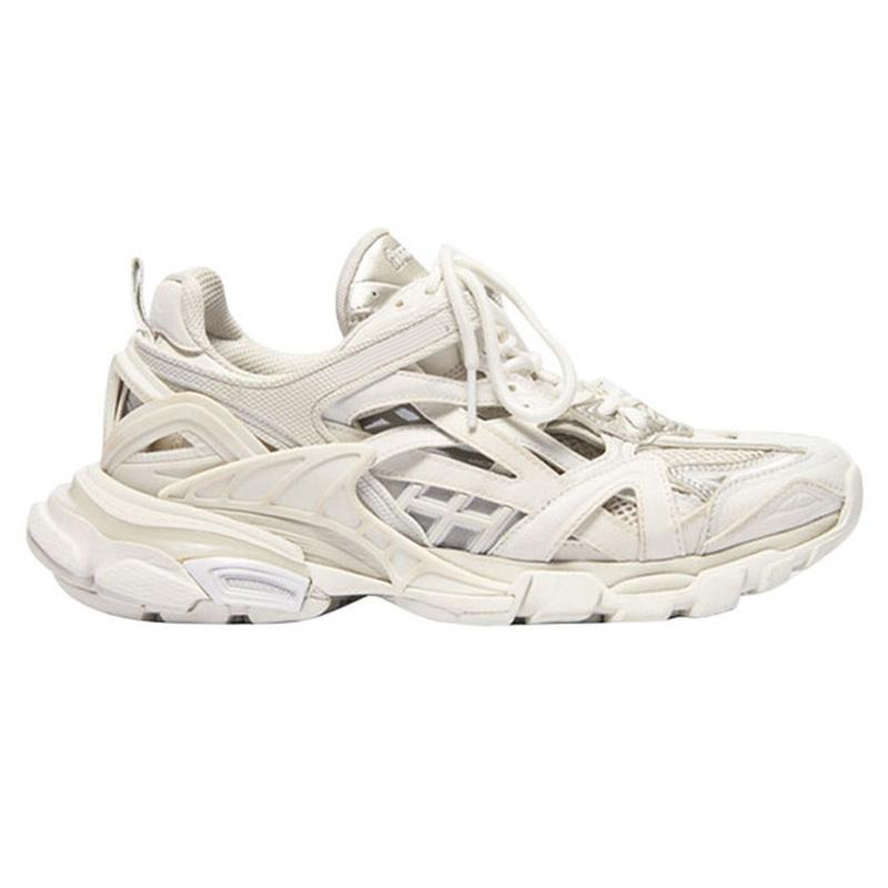 2020 hot Paris Traccia Formatori Sneaker TESS S GOMMA RES BIALV TIS FEP NUBUK TIS EALL BLANC donna degli uomini papà scarpe casual con trasporto libero scatola
