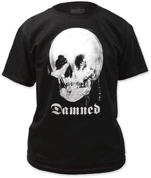 The Damned Espelho Crânio Camiseta S M L Xl 2xl Nova Marca Oficial Camiseta