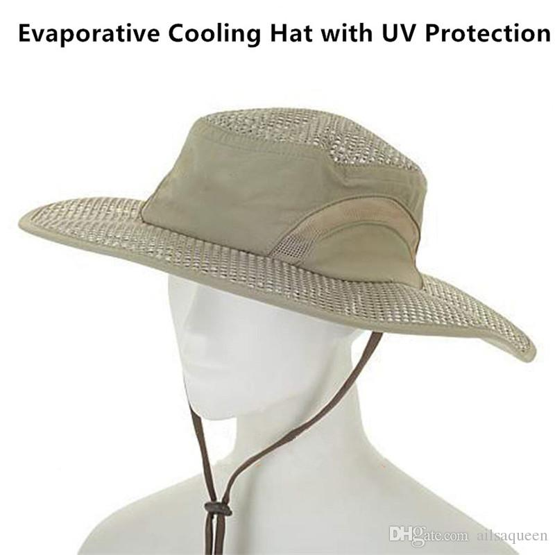 Warm wind Sun Hat Mens Sun Hat Sun Visor Hat UV Sun Hat Sunscreen Cooling Air Conditioning Cap Ice Cap