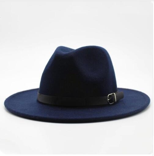 Winter Herbst Imitation Wolle Damen Herren Damen Fedoras Top-Jazz-Hut Europäische Amerikaner Runde Caps Bowler Hüte 2020 neue