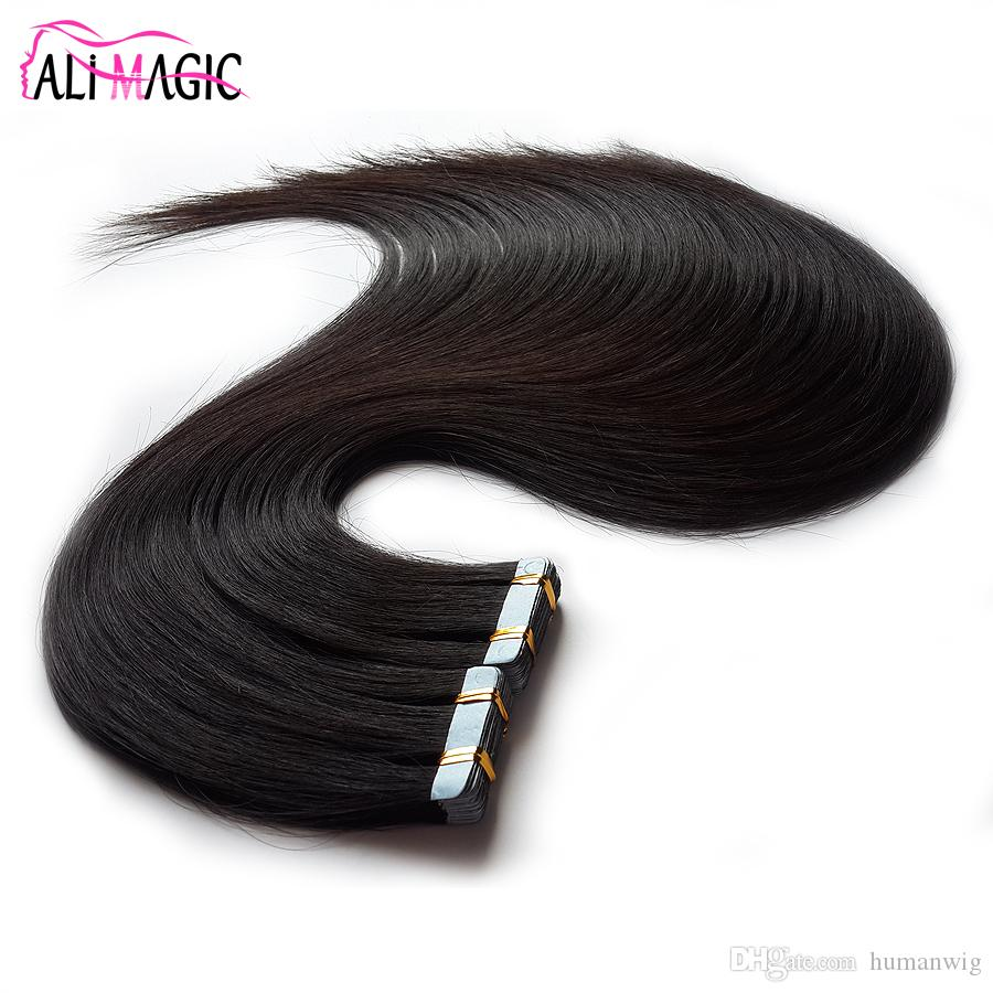 Invisible Tape Remy Hair Extensions Human Hair Virgin Hair Tape 100g/40pcs Natural Black Brown Blonde 20 22 24 26 28 inche