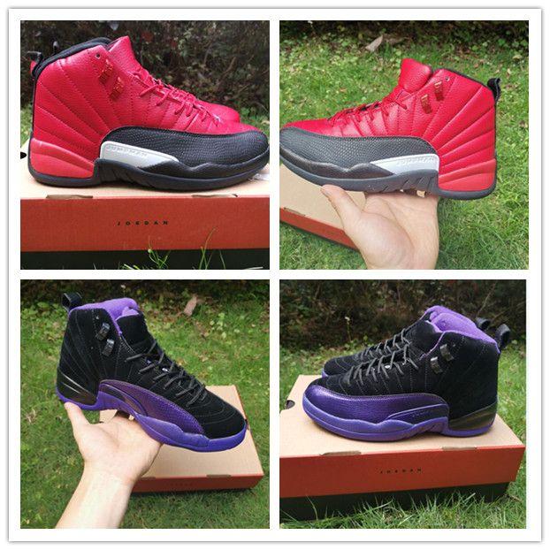 2020 Новый цвет Jumpman XII 12 12s Фиолетовый Красный Спорт Баскетбол обувь для высокого качества Mens тренеров Повседневный Спортивный Спорт Кроссовки США 40-47