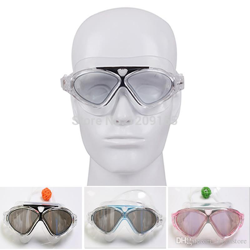 htzyh مكافحة الضباب الضباب كبير قابل للتعديل نظارات السباحة السباحة نظارات حماية من الأشعة فوق