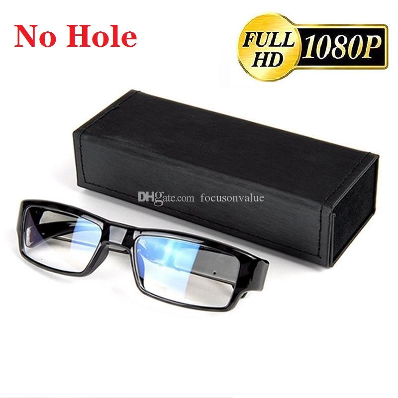 No Hole glasses camera Full HD 1080P Eyewear camera Glasses Mini DV DVR digital video recorder black DHL free shipping