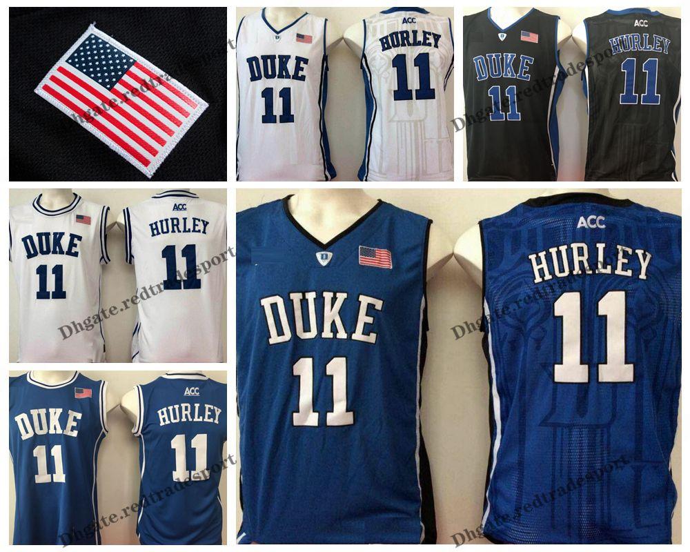 Mens Customize Бобби Херли Duke Blue Devils Колледж баскетбольная Настройка Дешевые # 11 Бобби Херли прошитых рубашки S-XXL