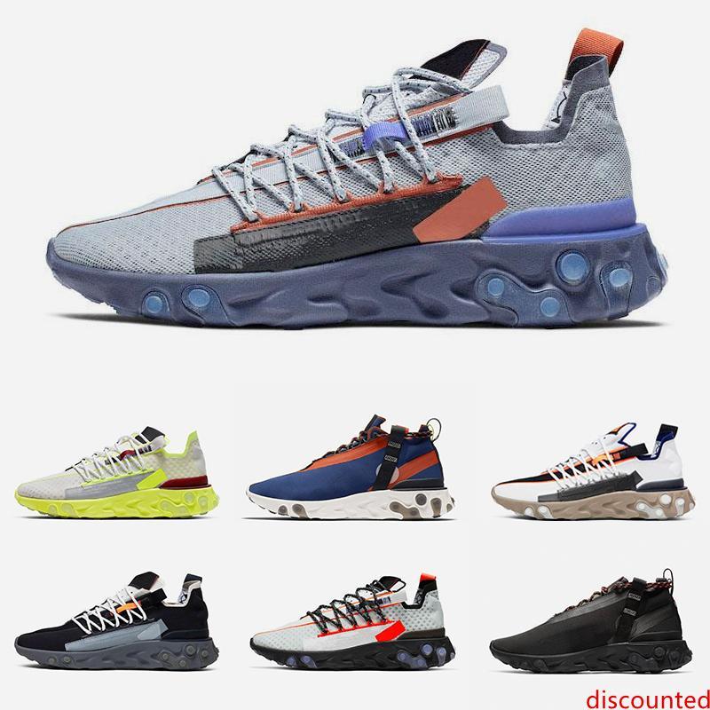 Yeni marka ISPA tepki koşu ayakkabıları Platin Volt Mavi Void Kurt gri Erkek Kadın eğitmen moda hava spor sneakers boyutu 36-45